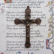 聖霊・聖ペテロ・聖パウロ・悲しみの聖母 アンティーク 十字架