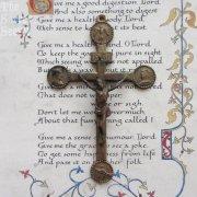 聖霊・聖母・イエス・キリスト アンティーク十字架