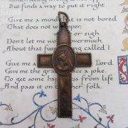 イエスキリストと悲しみの聖母のアンティーククロス