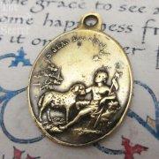 1489 洗礼者ヨハネ・聖ギスラン・聖コルネイユ アンティーク メダイ