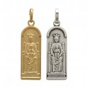 シャルトルのノートルダム大聖堂 聖母子 メダイ  3  スクウェア ペンダント フランス直買い付け品 【在庫限り】