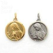 百合と祈る聖母 メダイ ペンダント シャルトル大聖堂 フランス直買い付け品