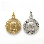 薔薇と聖母 メダイ ペンダント シャルトル 大聖堂 フランス直買い付け品