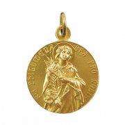 聖フィロメナと無原罪の聖母 ゴールド メダイ ドイツ製