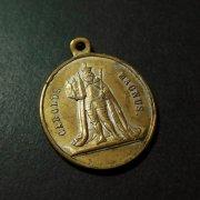 1499 カール大帝と聖遺物 アンティークメダイ