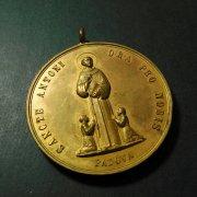 1509 パドヴァの聖アントニオ  大きなアンティークメダイ 聖アンソニー アントニウス