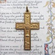聖霊・聖杯・子羊 アンティーク十字架 クロス