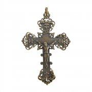 グランドバロック 百合の紋章 クルシフィクス (ブロンズ) 十字架 クロス ペンダント