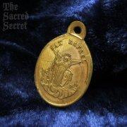 天使ラファエルと慈悲の聖母 アンティークメダイ