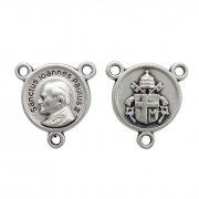ローマ教皇 聖ヨハネ・パウロ2世 教皇紋章 ロザリオ センターメダイ イタリア製 パーツ