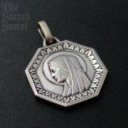 1575 聖母マリア 八角形 ヴィンテージメダイ