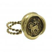 神の子羊 ワックスシール リング 真鍮 アニュス・デイ 指輪 【The Sacred Secret Original Jewelry】