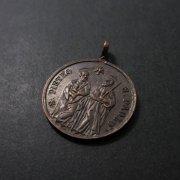 聖ペテロと聖パウロ 教皇レオ13世のアンティークメダイ