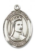 ハンガリーの聖エリザベト メダイ M ペンダント スターリングシルバー製 【受注発注】