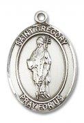 聖グレゴリウス 教皇グレゴリウス1世 メダイ L/M/S ペンダント スターリングシルバー製 【受注発注】