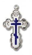 聖オルガ クロス ブルーエナメル M 十字架ペンダント スターリングシルバー製 【受注発注】