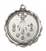 聖霊の七つの賜物 ラウンドメダイ ペンダント スターリングシルバー製