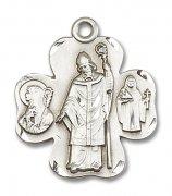 アイルランドの聖人 メダイ シャムロック ペンダント スターリングシルバー製 パトリック ブリジッド