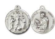 至聖なるロザリオの聖母 聖ドミニコ  メダイ ペンダント スターリングシルバー 【受注発注】