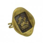 アニュス・デイ 封蝋 リング 真鍮 神の子羊 指輪 【The Sacred Secret Original Jewelry】<img class='new_mark_img2' src='https://img.shop-pro.jp/img/new/icons24.gif' style='border:none;display:inline;margin:0px;padding:0px;width:auto;' />