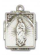 グアダルーペの聖母のメダイ スクエア ペンダント スターリングシルバー製 【受注発注】