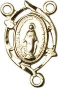 ロザリオ センターパーツ ◆ 不思議のメダイ ゴールドプレート 透かしデザイン  【受注発注】