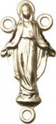 ロザリオ センターパーツ ◆ 不思議のメダイ 聖母マリア ゴールドプレート センターメダイ 【受注発注】