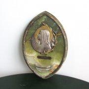 アンティーク ルルドの聖母の聖水盤 壁掛け用