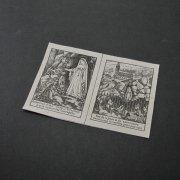 アンティーク スカプラリオ用の布 ルルドの聖母  黒プリント