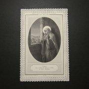 アンティーク ホーリーカード  悲しみの聖母マリア レース