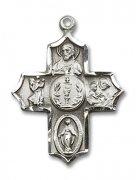 初聖体拝領 聖杯と聖人 クロス メダイ M ペンダント スターリングシルバー製 アメリカ製