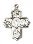 グアダルーペの聖母 聖人 クロス メダイ  ペンダント スターリングシルバー製 【受注発注】