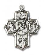 アイルランドの聖人聖女 クロス メダイ  ペンダント スターリングシルバー製 【受注発注】