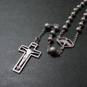 聖霊とキリストのシルバーロザリオ