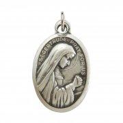 ヘルフタの聖ゲルトルード  メダイ ◆ 旅行者の守護聖人