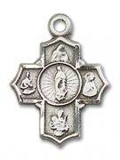 母親の守護聖人聖女聖母 クロス メダイ S ペンダント スターリングシルバー製 【受注発注】
