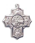 聖ジェラルド 聖ヘンリー 聖セラフィナ 聖アエギディウス クロス メダイ L スターリングシルバー製 【受注発注】
