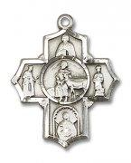 聖ジェラルド 聖ヘンリー 聖セラフィナ 聖アエギディウス クロス メダイ M スターリングシルバー製 【受注発注】