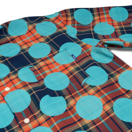 <img class='new_mark_img1' src='https://img.shop-pro.jp/img/new/icons1.gif' style='border:none;display:inline;margin:0px;padding:0px;width:auto;' />Awake NY Polka dot flannel shirt Clay