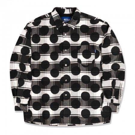 <img class='new_mark_img1' src='https://img.shop-pro.jp/img/new/icons1.gif' style='border:none;display:inline;margin:0px;padding:0px;width:auto;' />Awake NY Polka dot flannel shirt Black