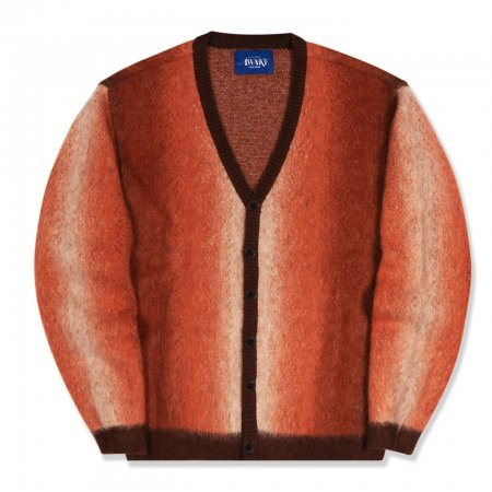 <img class='new_mark_img1' src='https://img.shop-pro.jp/img/new/icons1.gif' style='border:none;display:inline;margin:0px;padding:0px;width:auto;' />Awake NY Mohair ombre striped cardigan Orange