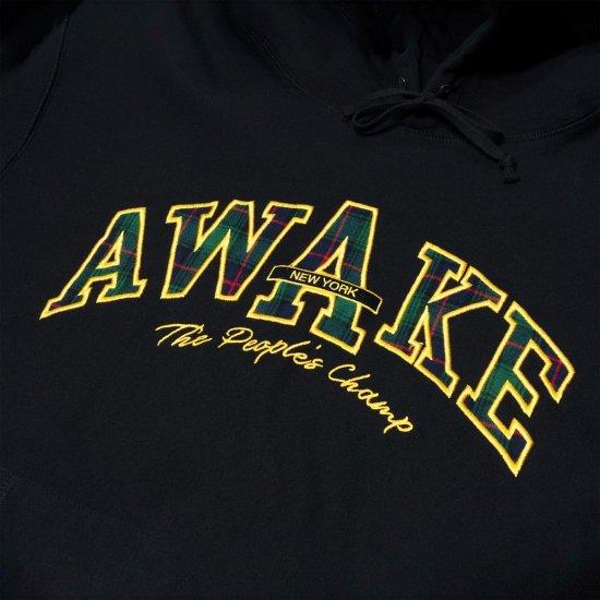 <img class='new_mark_img1' src='https://img.shop-pro.jp/img/new/icons1.gif' style='border:none;display:inline;margin:0px;padding:0px;width:auto;' />Awake NY People's champ plaid logo hoodie Black