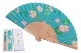京扇子-極楽浄土・アクア(袋付セット)