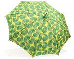 晴雨兼用傘-ほうれん草数列・フレッシュ(持ち手:栗の木)