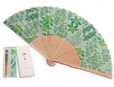 京扇子-春の七草・ミント(袋付セット)
