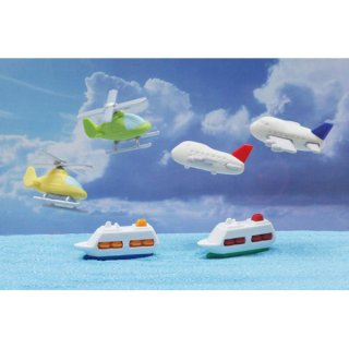 飛行機と船消しゴム(単価¥26)60入