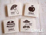 SMILE布タグ/スクエア/フード4枚(4種類)