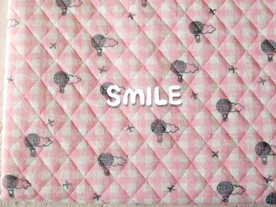 キルトニット/バルーンチェック/ピンク