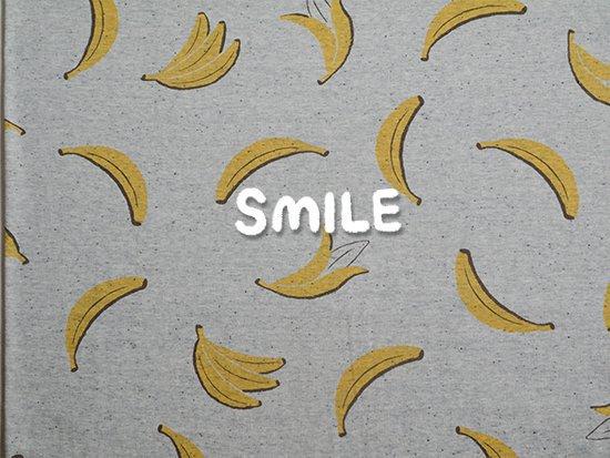 ブラックネップリバー天竺/グレー杢/バナナ