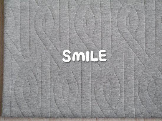 (SALE)ループステッチキルトニット/グレー杢
